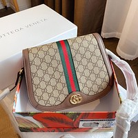 Gucci new double G single shoulder messenger bag retro flap small square bag