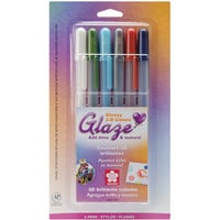 Gelly Roll Glaze Bold Point Pens 6/Pkg-Assorted Colors