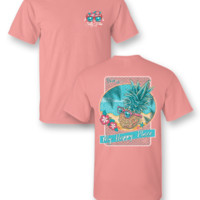 """Sassy Frass Tee """"My Happy Place"""" on Comfort Color Tee"""