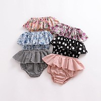 Summer baby girls boys shorts born Baby Fold bloomers Girls Pattern Triangle Shorts toddler Trousers PP Pants Clothes