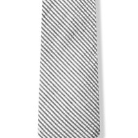 Seersucker Stripe Tie By The American Necktie Co In Cotton