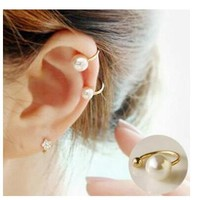 ey001 2017 version of the new simple and elegant pearl No ear hole earrings U shaped Ear clip 1 pcs-in Clip Earrings from Jewelry & Accessories on Aliexpress.com | Alibaba Group