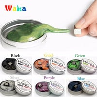 Magnetic Rubber Mud Hand Gum Silly Putty Magnet Clay Magnetic Plasticine Ferrofluid 2017 New DIY Creative Toys 6 Colors Gifts