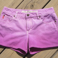 Dip Dyed Purple Shorts Size 5 by DenimAndStuds on Etsy