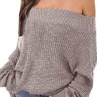 Oversized Sweaters: Loose Off Shoulder Sweaters