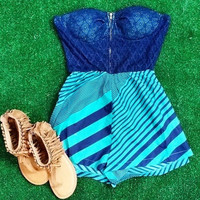 FLORIDA KEYS ROMPER IN TEAL