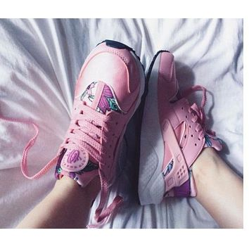 """""""NIKE""""AIR Huarache Stylish Women Personality Running Sport Shoes Sneakers Pink Floral I"""