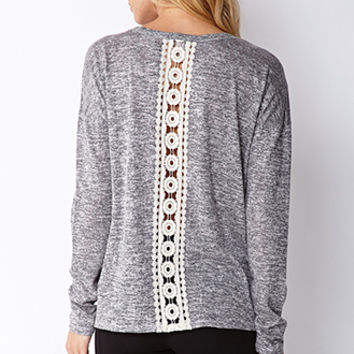 Crochet and Marled Top