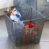 Silver Hole Punch Storage Basket - Large