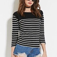 Button Striped Top | Forever 21 - 2000183114