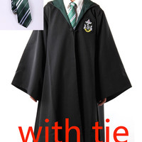 Harry Potter Robe Costume WITH TIE for Kids and Adult (SLYTHERIN)