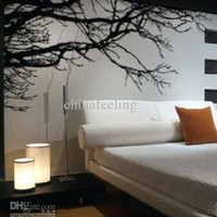Black tree branches wall sticker DIY Art Vinyl Wall Stickers/Decal Decor Mural 200*83cm free shipping