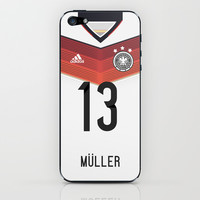 World Cup 2014 - Germany Müller Shirt Style iPhone & iPod Skin by Maximilian San
