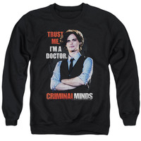 CRIMINAL MINDS/TRUST ME - ADULT CREWNECK SWEATSHIRT - BLACK - 2X