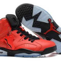 Air Jordan 6 Retro AJ6 VI Red/Black Sport Sneaker US 5.5-13