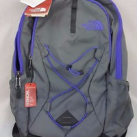 The North Face Womens Jester Backpack Daypack Zinc Grey Purple