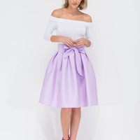 Ladies Who Lunch Flared Pleated Skirt