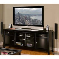 Alpine Furniture 618-10 Laguna Dark Espresso Tv Console