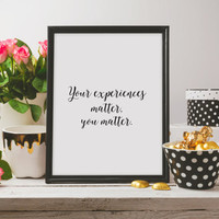 Motivational quote Inspirational poster Wall art Home decor Typographic print Gift idea Printable quote Room poster Instant download