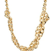 Gold Twisted Chain Collar Necklace by Charlotte Russe