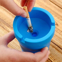 Creative Plastic Car Ashtray Living Room Office Bathroom Desk Ashtrays Ash storage tray Box Ash Organizer