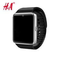Smart Watch GT08 Clock With Sim Card Slot Push Message Bluetooth Connectivity for iphone  Android Phone  Smartwatch