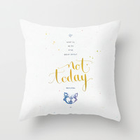 "Game of Thrones ""Not today"" Throw Pillow by Earthlightened"