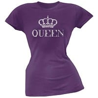 Queen Purple Soft Juniors T-Shirt