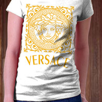 New VERSACE Women T-Shirt - Brand Fashion Design T-Shirt - All Color Available )