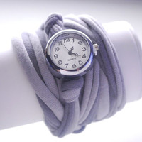 2 TONE GRAY Double Wrap WATCH Bracelet in Many Colors Extra Wide Stretch Wrist Watch Fashion accessory Women Teens Wrist Tattoo Cover