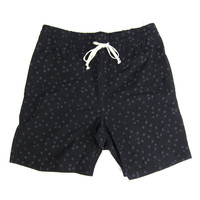 Quiet Life: Painted Dot Beach Shorts - Black