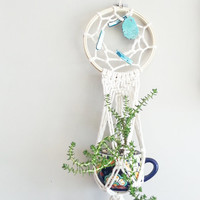 Boho Room Decor- Shabby Chic Decor- Bohemian Furniture~ Double Hanging Planter- Living Room Decor- Home Decor- Boho Chic- Dorm Room Decor~