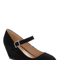 Every Waking Moment Wedge in Black | Mod Retro Vintage Wedges | ModCloth.com