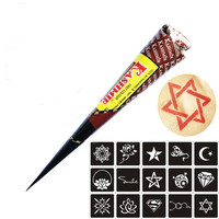 Black Natural Herbal Henna Cones Tube Natural Indian Temporary Tattoos Kit Body Art Painting Tool