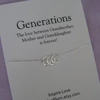 Mom Jewelry. GRANDMA to be Gift. Mother Necklace. ETERNITY Jewelry Grandmother Necklace. Sisters Gift. Thank you Gift