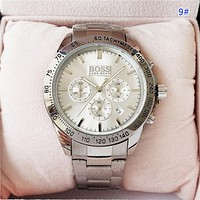 BOSS Fashion New Quartz Women Men Business Casual Watch Wristwatch 9#
