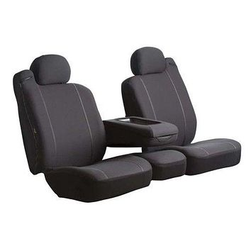 FIA SP80 BLACK Universal Fit Seat Cover Poly-Cotton Bucket Seats SP80 Series 1st Row Black Seat Cover