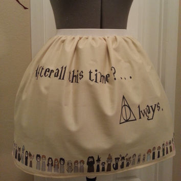 Harry Potter inspired full skirt - made to order