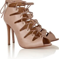 Schutz Slate leather sandals – 50% at THE OUTNET.COM