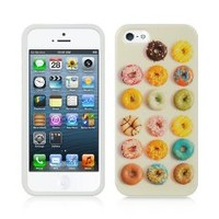 DONUTS TPU Gel Rubber Skin Cover Case for Apple iPhone 4 / 4S |In Twisted Tech Packaging|