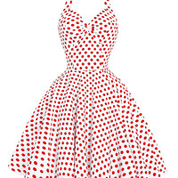 summer women Polka Dots dresses 2016 Retro vintage sleeveless 50s 60s dress vestidos swing pinup Picnic rockabilly Dress cheap