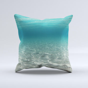Under The Sea Scenery Ink-Fuzed Decorative Throw Pillow