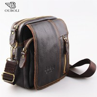 Men Bag Genuine Leather fashion Messenger Handbags