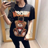 NEW 100% Authentic  Moschino  t shirt ※006