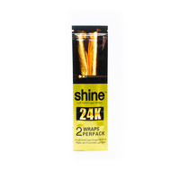 24K Gold Blunt Wraps by Shine Papers - Single Pack