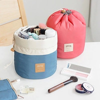 On The Go Travel Makeup Bag - Drum Style with Drawstring