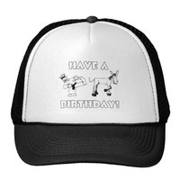 Have A KickAss Birthday Cool Funny Trucker Hat