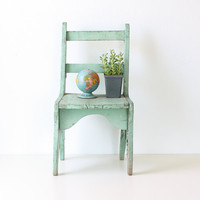 Vintage Green Chair by bellalulu on Etsy