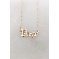Virgo Old English Necklace in Gold