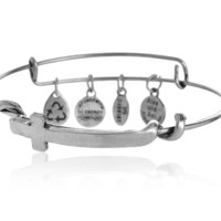 Alex and Ani cross charm bracelet,a perfect gift !